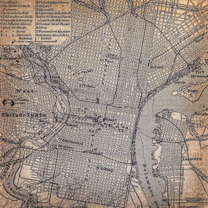 Map of Philadelphia 1898