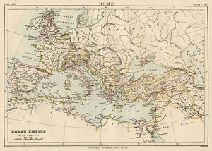 Map of the roman empire 1883