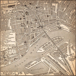 Map of Rotterdam 1898