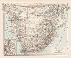 Map of South Africa 1900