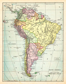 Map of South America 1895
