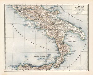 Map of South Italy 1900