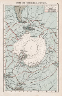 Map of the South Pole 1900