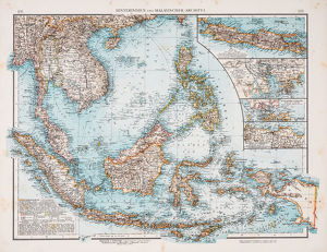 Map of southeast Asiaa€™s Malay Archipelago 1896