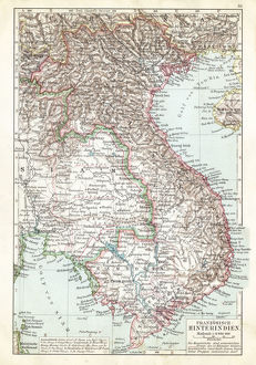 Map of Thailand and Vietnam 1900