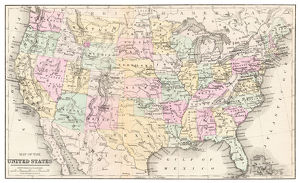 Map of USA 1877