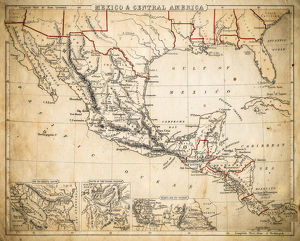 Mexico and Central America map of 1869