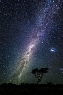 Milky way over the night sky, Africa