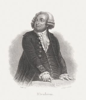 Mirabeau (1749 - 1791), steel engraving, published in 1868
