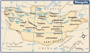 Mongolia country map