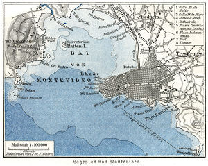 Montevideo city map 1895