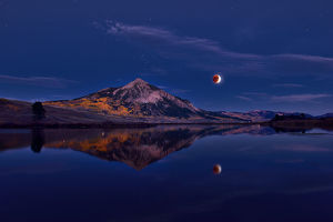 Moon Eclipse in Crested Butte