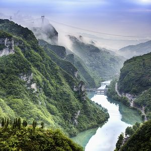 Morning in Wuyang river gorge