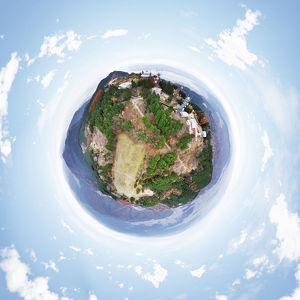 Mount Hiei's 360° Aerial Little Planet