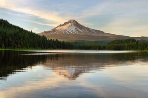 Mount Hood at Trillium Lake Reflection
