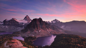 Mt. Assiniboine at Sunset