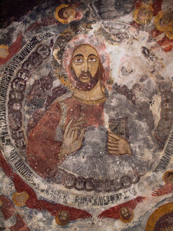 Mural of 'Christ Pantocrator' in Sumela Monastery near Trabzon, Turkey