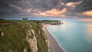 global landscape views/fred concha photography/nature landscape sunset etretat france beautiful