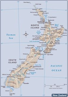 New Zealand country map