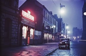 A night-time view of the Lifeboat Bar in Dublin