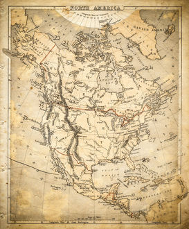 North America map of 1869