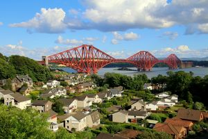 North Queensferry with the Forth railway bridge