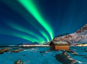Northern light over Lofoten