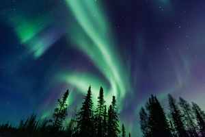 Northern Lights close to Yellownife