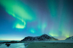 Northern Lights at Flakstad Norway lofoten