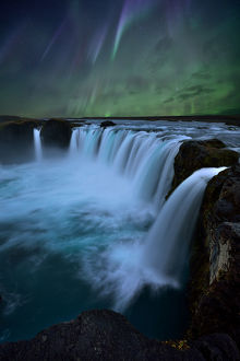 global landscape views/fred concha photography/northern lights godafoss waterfall iceland
