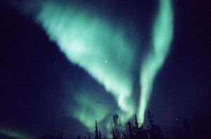 NORTHERN LIGHTS OVER FAIRBANKS, ALASKA