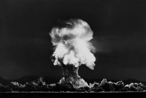 Nuclear Bomb Explosion, Nevada Test, 23rd July 1957