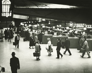 People on Penn Station, New York City, (B&W)