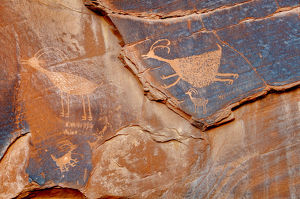 Petroglyph in Monument Valley