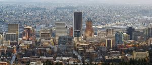 Portland Downtown Cityscape Panorama