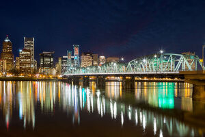 Portland Oregon Skyline at Blue Hour