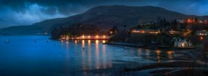 photographers/matt anderson photography/portree harbour harbor isle skye scotland moonlight
