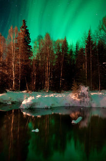 Reflecting on dream - Alaskan Northern lights