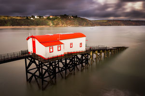 travel imagery/britain view/renovated tenby lifeboat station