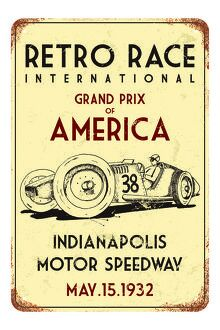 poster art/retro race car wall poster