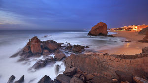 global landscape views/fred concha photography/rock formation santa cruz beach portugal