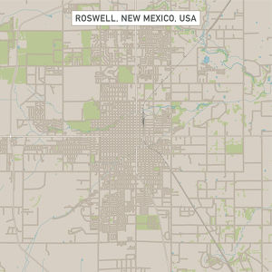 Roswell New Mexico US City Street Map