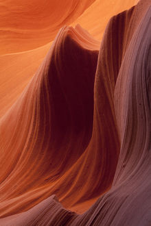Sandstone rocks, Lower Antelope Canyon, Page, Arizona, USA, America