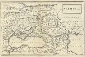 Sarmatia modern Ukraine and Russia 18th century 1740