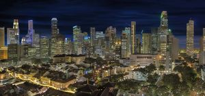 Singapore Central Business District Skyline and Ch
