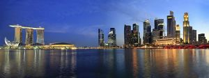 Singapore Skyline from Esplanade Panorama