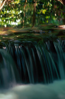 Small waterfall in stream, Phang-Nga Bay National Park, Thailand