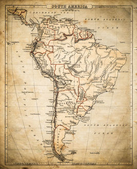 South America map of 1869