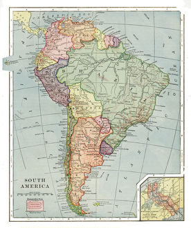 South America map 1892