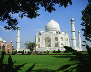 A spectacular view of Taj Mahal, Agra, India